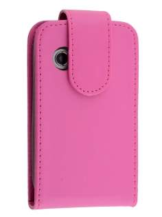 Synthetic Leather Flip Case for Samsung Galaxy Y S5360T - Pink Leather Flip Case