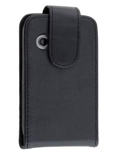 Synthetic Leather Flip Case for Samsung Galaxy Y S5360T - Classic Black