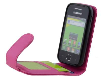 Synthetic Leather Flip Case for Samsung Galaxy Y S5360T - Pink