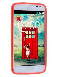 LG L70 D320N Wave Case - Frosted Red/Red