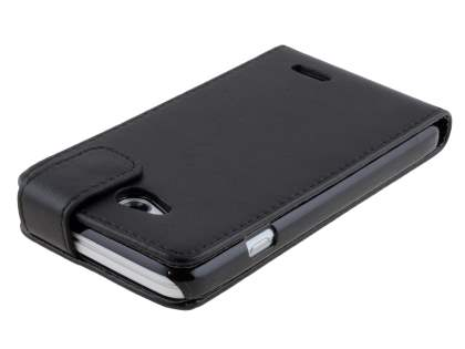 Synthetic Leather Flip Case for LG L70 D320N - Classic Black
