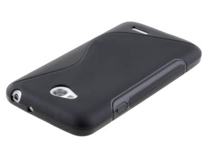 Wave Case for LG L70 D320N - Frosted Black/Black
