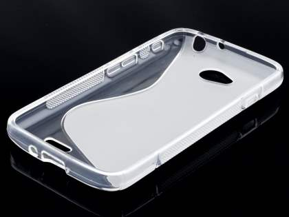 LG L70 D320N Wave Case - Frosted Clear/Clear