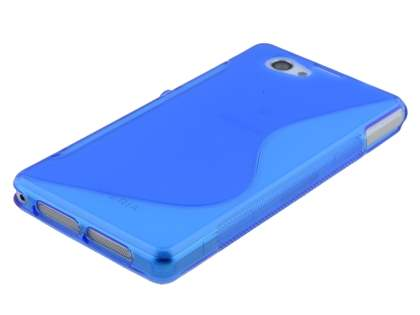 Sony Xperia Z1 Compact Wave Case - Frosted Blue/Blue