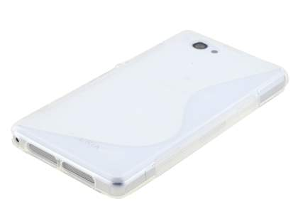 Sony Xperia Z1 Compact Wave Case - Frosted White/White