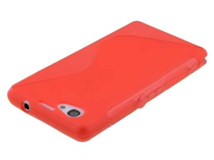 Sony Xperia Z1 Compact Wave Case - Frosted Red/Red