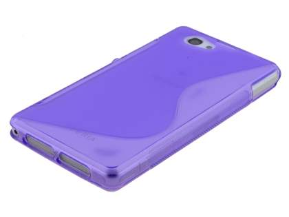 Sony Xperia Z1 Compact Wave Case - Frosted Purple/Purple