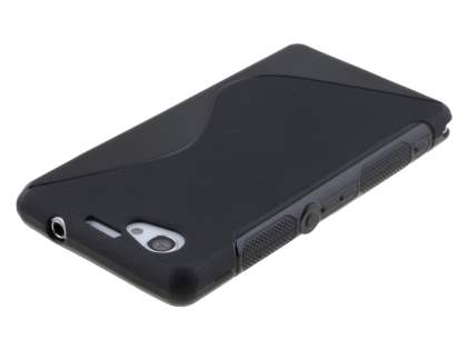 Sony Xperia Z1 Compact Wave Case - Frosted Black/Black