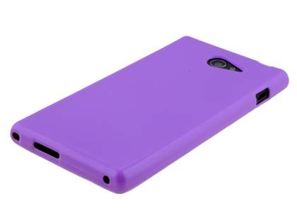Sony Xperia M2 Frosted Colour TPU Gel Case - Purple