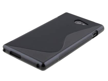 Sony Xperia M2 Wave Case - Frosted Black/Black