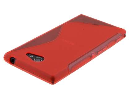Wave Case for Sony Xperia M2 - Frosted Red/Red