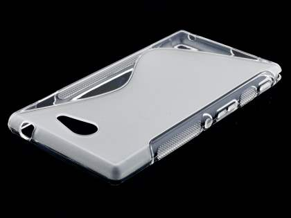 Wave Case for Sony Xperia M2 - Frosted Clear/Clear