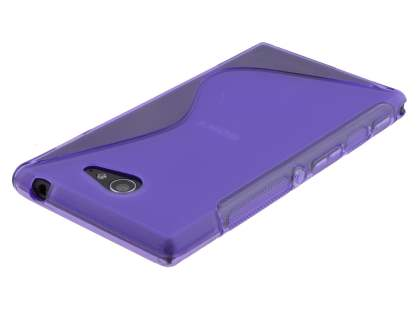 Sony Xperia M2 Wave Case - Frosted Purple/Purple