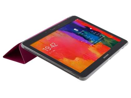 Samsung Galaxy Tab Pro 10.1 Book-Style Case with Stand - Hot Pink/Frosted Clear