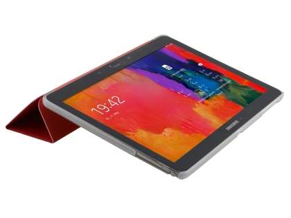 Samsung Galaxy Tab Pro 10.1 Book-Style Case with Stand - Red/Frosted Clear