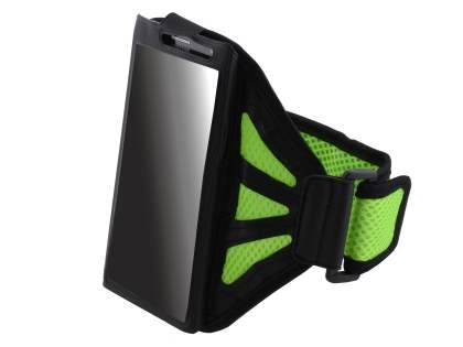 Universal Sports Armband for Phones - Black/Green Sports Arm Band