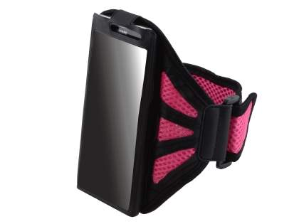 Sports Arm Band for Samsung Galaxy S4 Mini - Black/Pink
