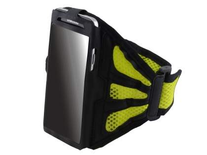 Sports Arm Band for LG G2 - Black/Canary Yellow Sports Arm Band