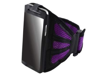 Sports Arm Band for LG G2 - Black/Purple Sports Arm Band