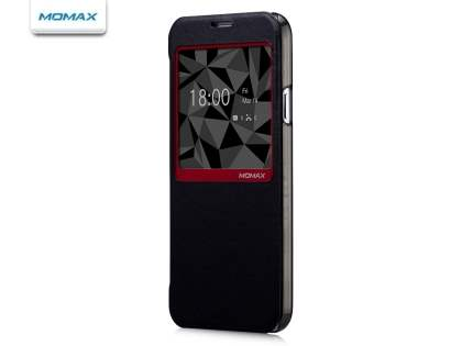 Momax Smart Flip View Case for Samsung Galaxy S5 - Classic Black