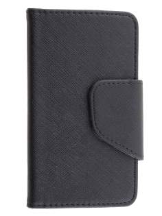 Motorola Moto X XT1058 Synthetic Leather Wallet Case - Classic Black