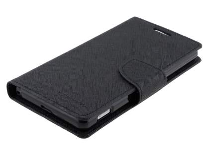 Mercury Colour Fancy Diary Case with Stand for Sony Xperia Z2 - Classic Black