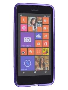 Wave Case for Nokia Lumia 635/636/630 - Frosted Purple/Purple