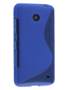 Nokia Lumia 635/636/630 Wave Case - Frosted Blue/Blue Soft Cover