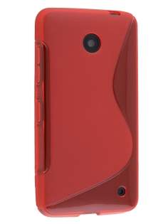 Nokia Lumia 635/636/630 Wave Case - Frosted Red/Red Soft Cover