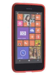 Nokia Lumia 635/636/630 Wave Case - Frosted Red/Red