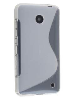 Nokia Lumia 635/636/630 Wave Case - Frosted Clear/Clear Soft Cover
