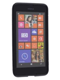 Nokia Lumia 635/636/630 Wave Case - Frosted Black/Black