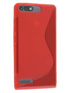 Huawei Ascend G6 4G Wave Case - Frosted Red/Red Soft Cover