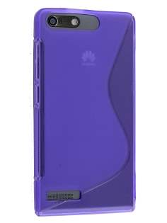 Huawei Ascend G6 4G Wave Case - Frosted Purple/Purple Soft Cover