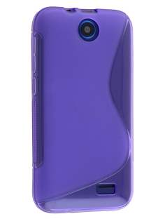 Wave Case for HTC Desire 310 - Frosted Purple/Purple Soft Cover