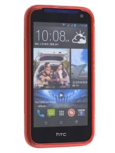 Wave Case for HTC Desire 310 - Frosted Red/Red