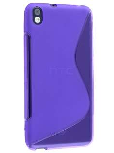 HTC Desire 816 Wave Case - Frosted Purple/Purple Soft Cover