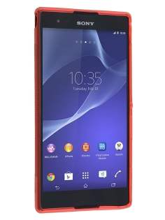 Sony Xperia T2 Ultra Wave Case - Frosted Red/Red