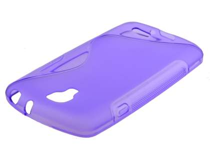 LG F70 D315 Wave Case - Frosted Purple/Purple Soft Cover