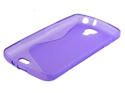 LG F70 D315 Wave Case - Frosted Purple/Purple
