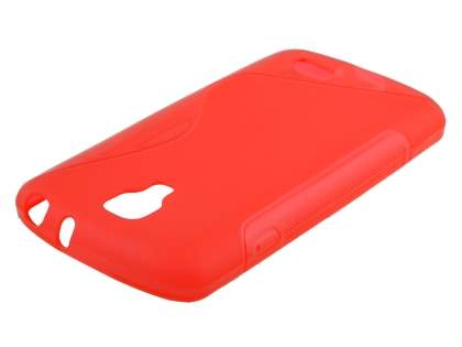LG F70 D315 Wave Case - Frosted Red/Red Soft Cover