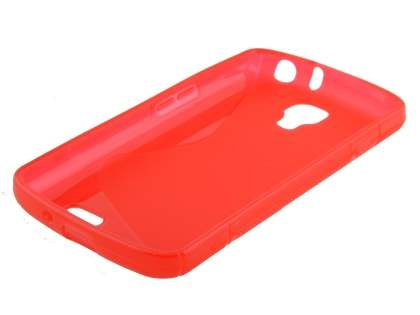 LG F70 D315 Wave Case - Frosted Red/Red