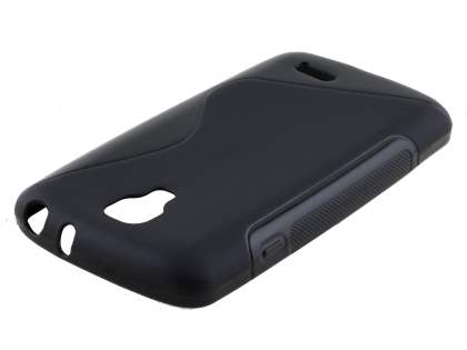 LG F70 D315 Wave Case - Frosted Black/Black Soft Cover