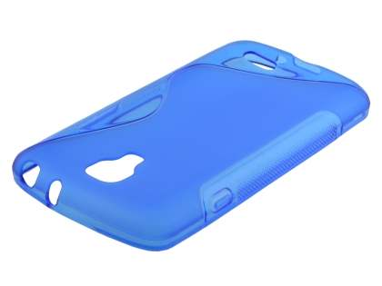 LG F70 D315 Wave Case - Frosted Blue/Blue Soft Cover