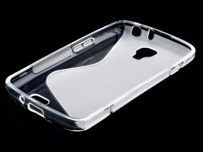 LG F70 D315 Wave Case - Frosted Clear/Clear