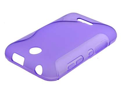Wave Case for Nokia Asha 230 - Frosted Purple/Purple Soft Cover
