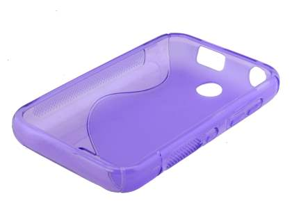 Nokia Asha 230 Wave Case - Frosted Purple/Purple