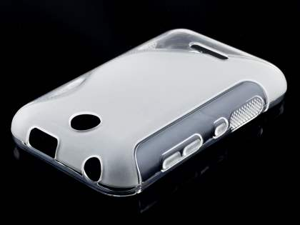 Wave Case for Nokia Asha 230 - Frosted Clear/Clear Soft Cover