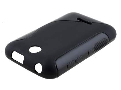 Wave Case for Nokia Asha 230 - Frosted Black/Black Soft Cover