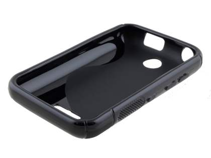Nokia Asha 230 Wave Case - Frosted Black/Black